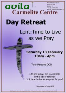 Lent:Time to Live as we Pray @ Avila Carmelite Centre | Dublin | Dublin | Ireland