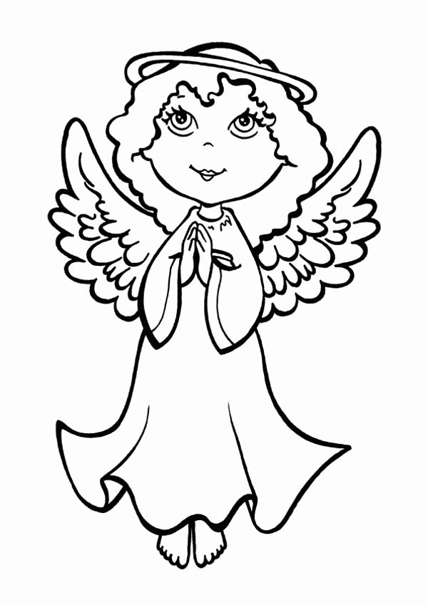 christmas boy angel coloring pages - photo#20