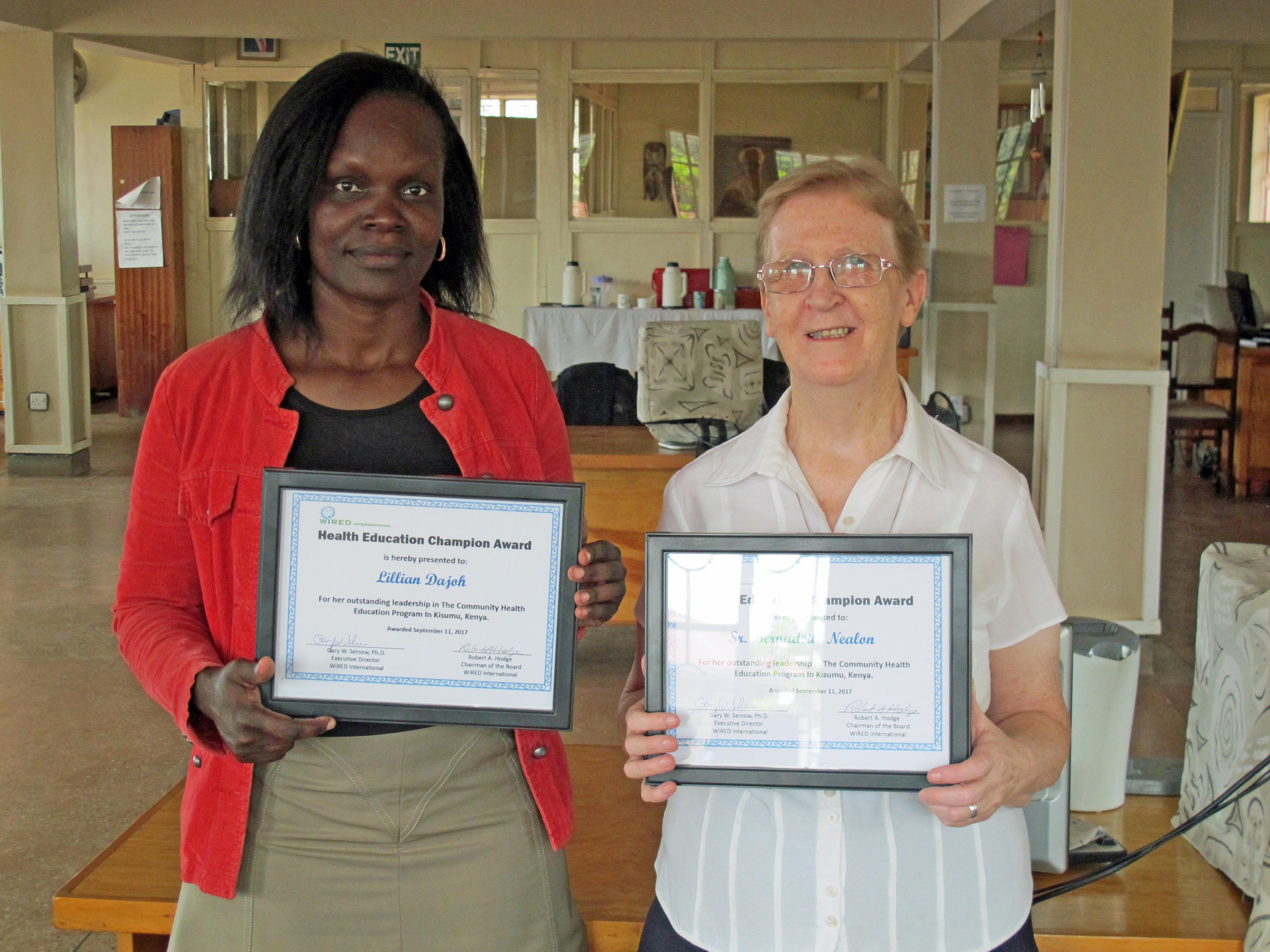 Irish Missionary Receives Health Education Award Catholicireland