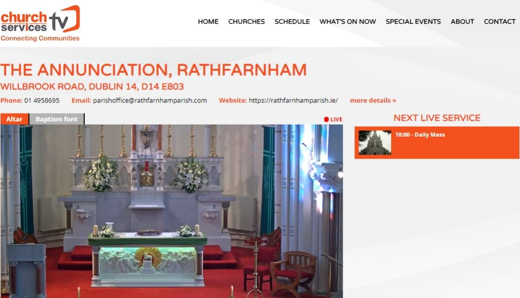 Online Mass in Irish - Rathfarnham @ Church of the Annunciation, Rathfarnham | Dublin | County Dublin | Ireland