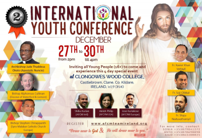 12nd International Youth Conference-Clane, Co Kildare-27-30/Dec @ Clongowes Wood College