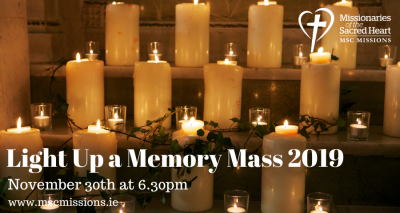 Light Up a Memory Mass 2019 @ Missionaries of the Sacred Heart Church, Cork