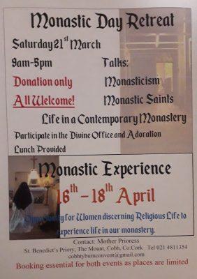 Monastic Day Retreat @ St. Benedict's Priory